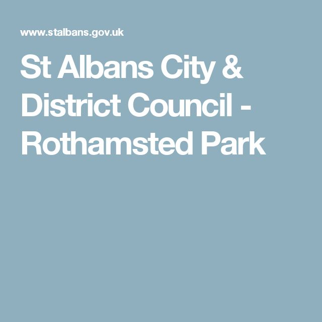 St Albans City & District Council - Rothamsted Park