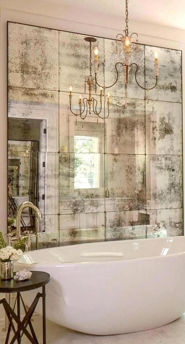 12 12 Mirror Tiles Antiques Antique Mirror Tiles Mirror Tiles And Alternative 12 X 12 Beveled M Elegant Bathroom Bathroom Design Luxury French Country Bathroom