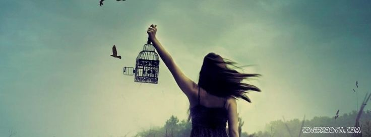 birds fly to freedom girl opening cage cool facebook ...