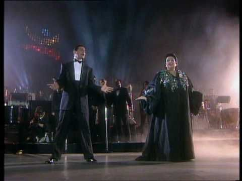 Two of the best voices together - Freddy Mercury and Montserrat Caballe singing Barcelona. I miss Freddy's voice.