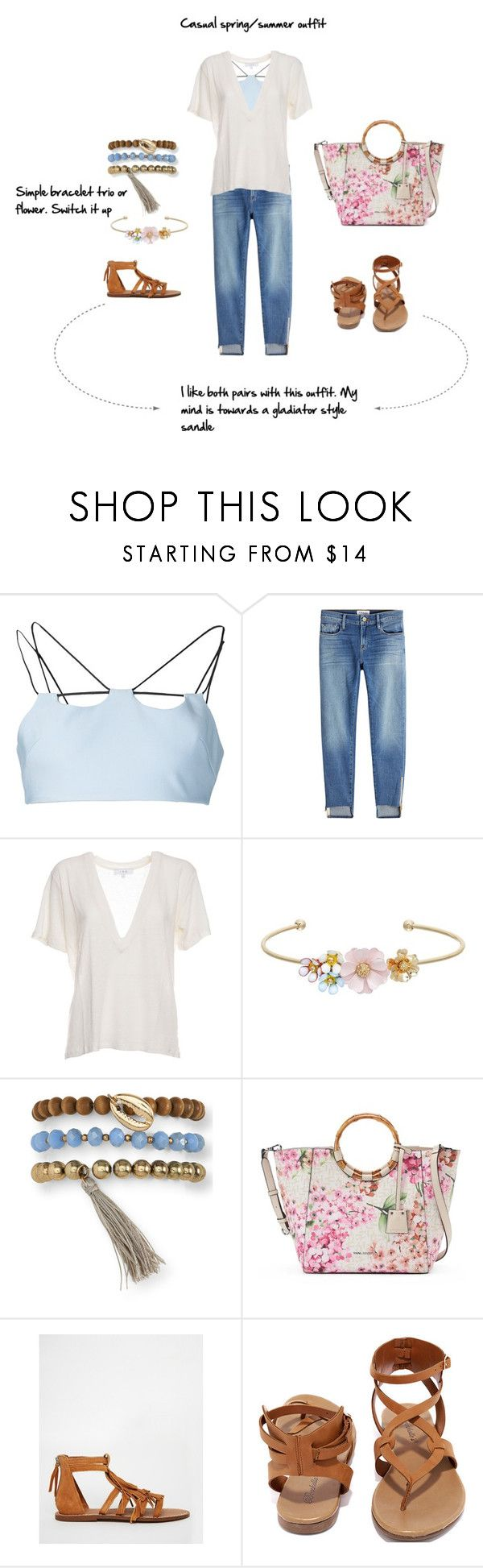 """Casual spring/summer outfit"" by mousters-8 on Polyvore featuring David Koma, Frame, IRO, LC Lauren Conrad, Aéropostale, Dana Buchman, MANGO and Breckelle's"