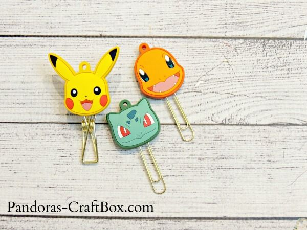 Newest Pokemon Stationary, Pikachu, stationary, paperclips, DIY, crafts, key cap,