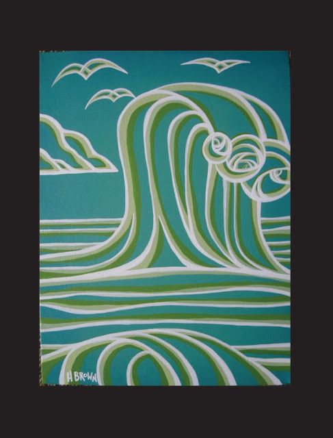 The Surf Art of Heather Brown www.HeatherBrownArt.com