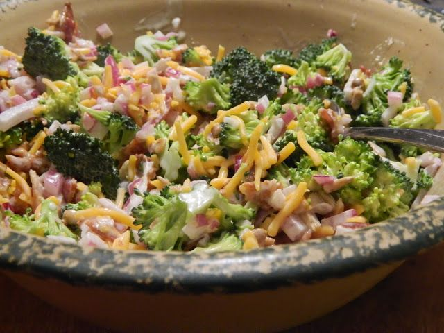 The Wednesday Baker BROCCOLI SALAD Love this!  I always have to look up the recipe for the dressing.