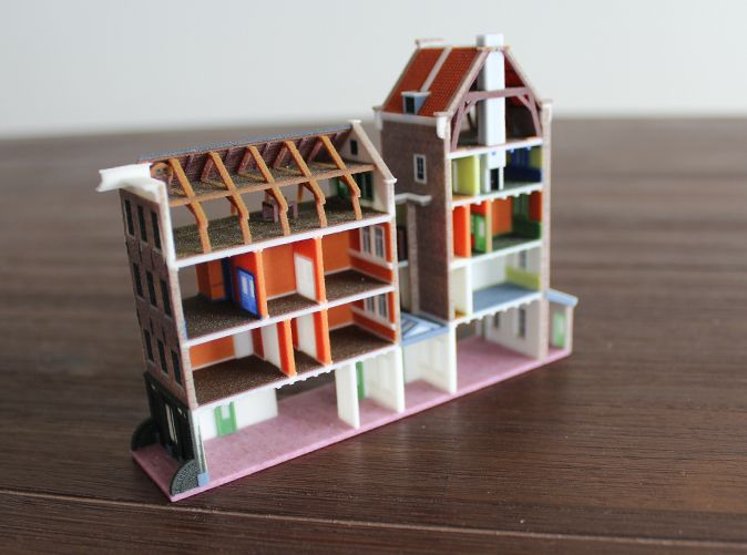3d Printed Model Of Anne Frank S House By Stefdevos