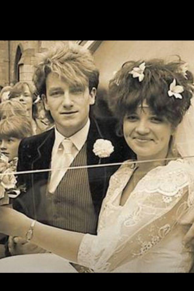 U2 Bono and Ali at their wedding. <3 Cuteness.