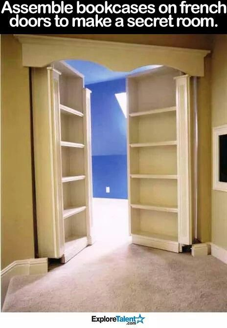 Love This Hidden Closet Idea
