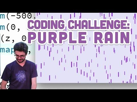 In this viewer submitted Coding Challenge, I attempt to code a Purple Rain Simulator in Processing. Send me your Coding Challenge ideas! Source Code For This...