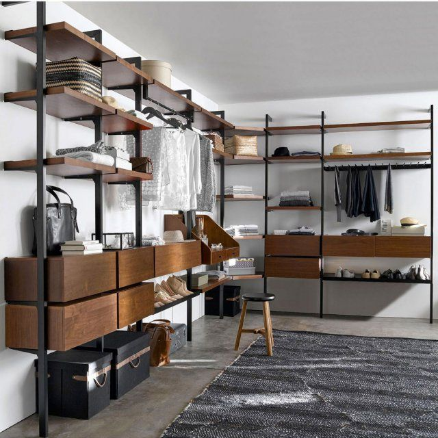 les 25 meilleures id es de la cat gorie dressing ouvert. Black Bedroom Furniture Sets. Home Design Ideas