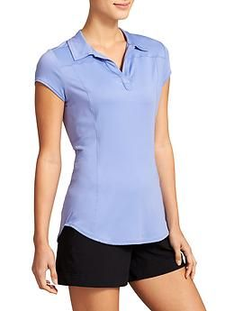 Please draw as a short sleeve polo.  Please fill with heather texture as well as solid.