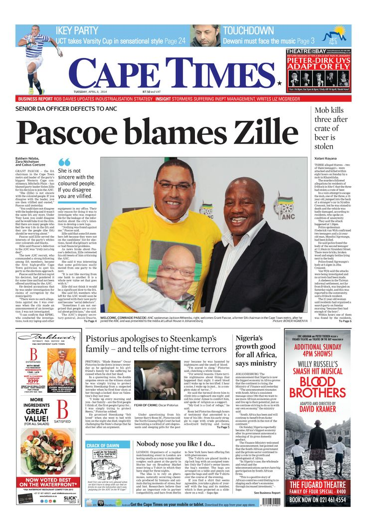News making headlines: Pascoe blames Zille