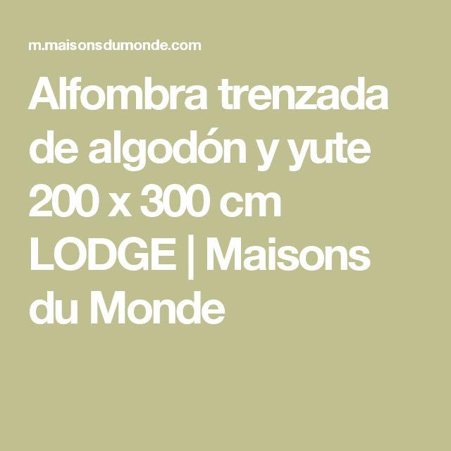 Alfombra trenzada de algodón y yute 200 x 300cm LODGE | Maisons du Monde