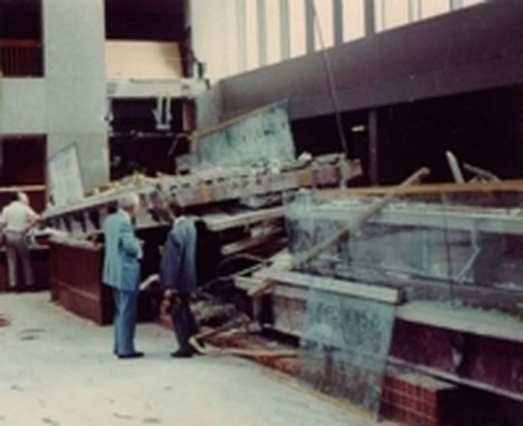 Somber Day. Today is the 36th anniversary of the Hyatt Regency Walkway Collapse.  A watershed moment in structural engineering the collapse killed 114 and injured another 216.  A reminder to all engineers that even minor design changes should be rigorously reviewed for aggregate impacts.  Read more  https://en.wikipedia.org/wiki/Hyatt_Regency_walkway_collapse  #RochesterNY #Engineering #EngineeringConsulting #StructuralEngineering #StructuralFailure