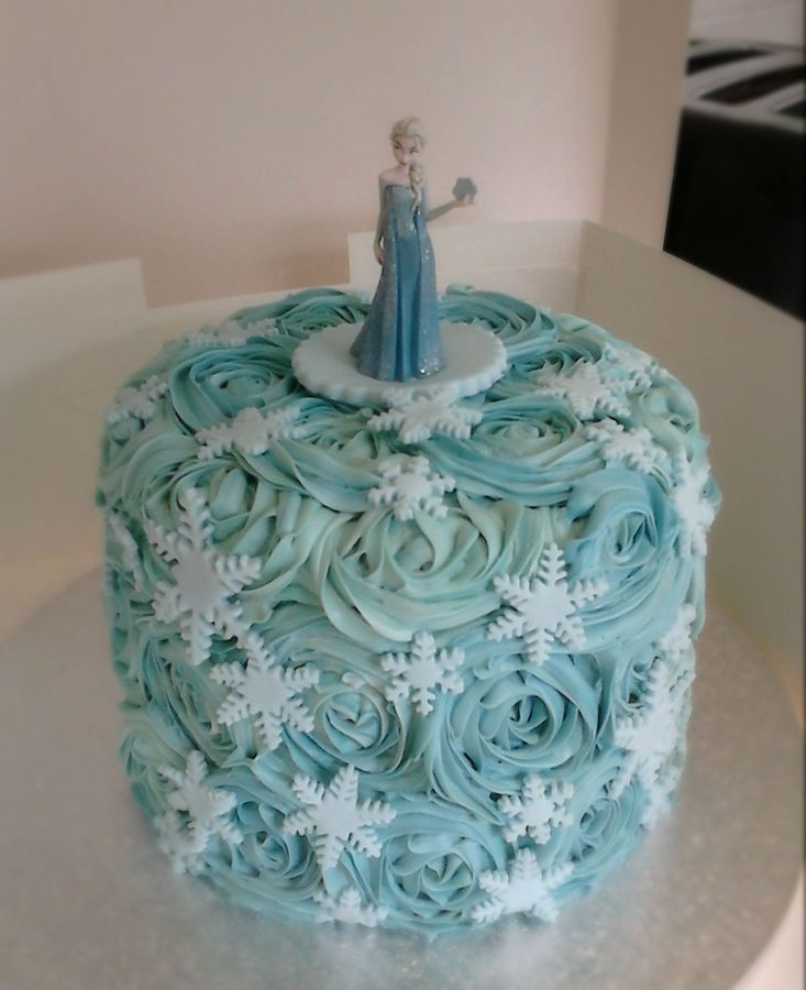 Frozen cake love it can you send me some more disney frozen themed party ideas prefably before february