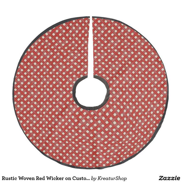 Rustic Woven Red Wicker on Custom Cream