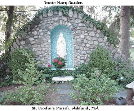 St cecelia 39 s parish grotto mary 39 s garden pinterest for Garden grotto designs
