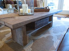 Tale Of 2 Tables A Golden Deal Diy Barnwood Coffee Table