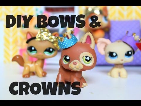 DIY LPS Bows and Crowns | Doll DIY - YouTube