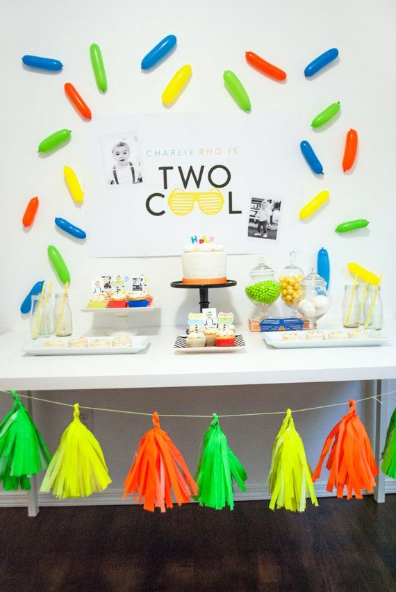 Two Cool Second 2nd Birthday Printable Party Decorations