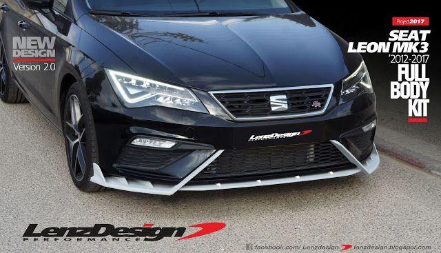 Seat Leon Mk3 5f Lenzdesign Bodykit Spoilers 2012 2013 2014 2015 2016 2017 2018 2019 Seat Leon Leon Snorkels