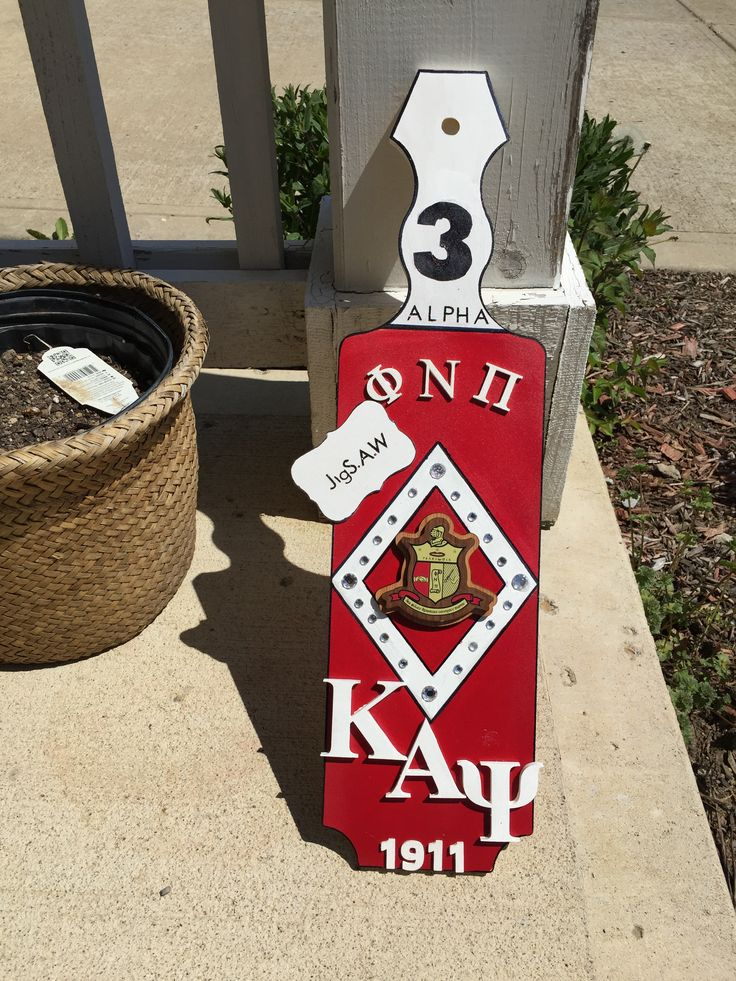 """Kake's Creations"" Kappa Alpha Psi paddle I made for my cousin"