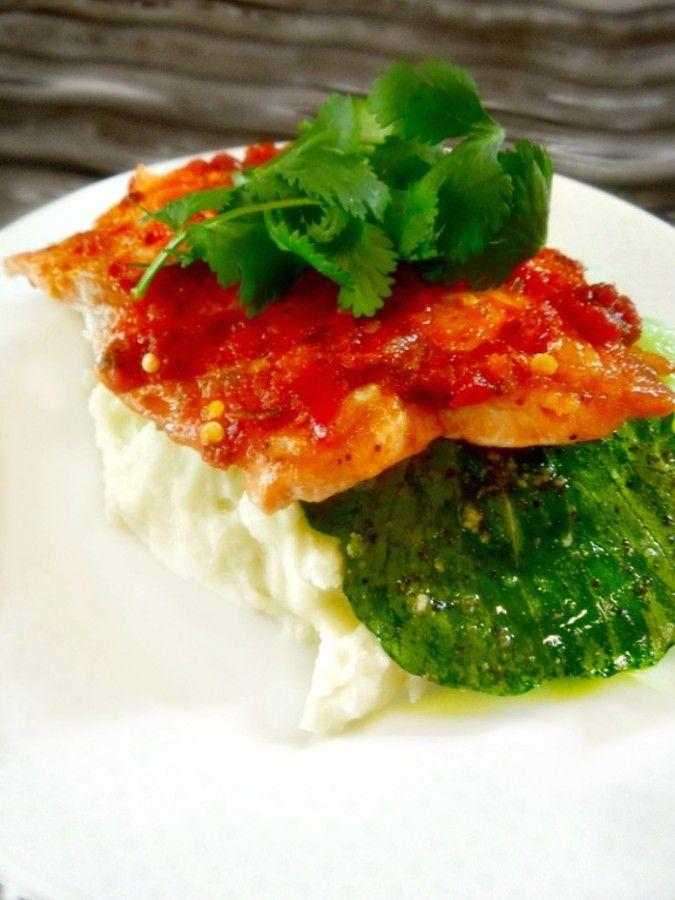Salmon with a Asian Twist - Sambal Glazed Salmon - Miss Information