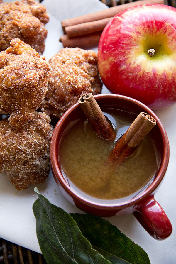 Apple Cider Hushpuppies with Cinnamon-Sugar - Makes about 24 to 26 Hushpuppies.