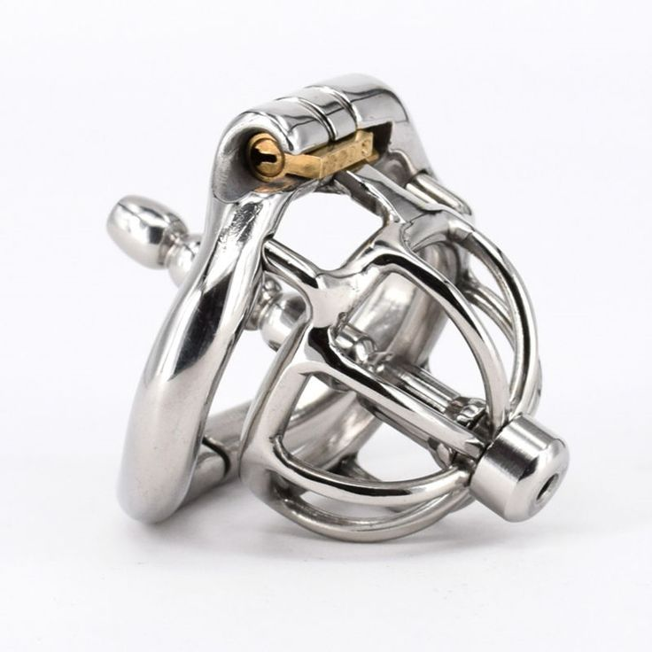 28.48$  Watch here - http://aliby4.shopchina.info/1/go.php?t=32805731990 - Super Small Stainless Steel Stealth Lock Male Chastity Device With Catheter Cock Cage Penis Lock Cock Ring Sex Toys   #magazineonlinebeautiful