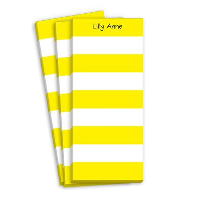 Yellow Stripe Skinnie NotepadsYellow Stripes, Stripes Skinny, Pink Stripes, Catalog, View, Products, Skinny Notepad