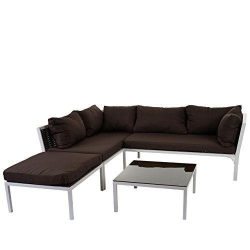 Poly Rattan Sofa Garnitur Delphi Sitzgruppe Lounge Set Alu