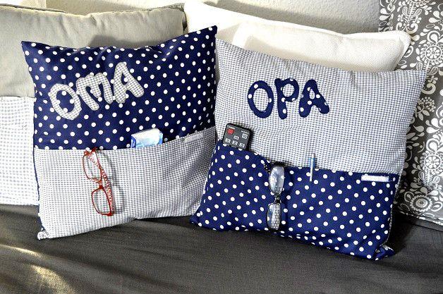 2 Kuschelkissen- Hüllen *Oma&Opa 2* | Geschenke für ...