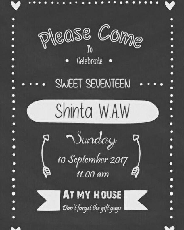 Makasih kak sudah mempercayai pembuatan kartu undangan pada DIOS CREATIVE MEDIA diperayaan 17 tahunnya 😊 sweet seventeen nya udah paling hitz lah 😍  #sweetseventeen #party #hitz #art #typography #design #infographic #font #color #like4like