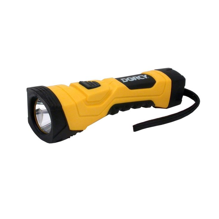 Dorcy Flashlights are superior flashlights that stand up to anything.  Going camping for the weekend?  Bring your Dorcy Flashlight and you'll see how it withstands any test you put it through. Models come in various forms.  All are constructed with strong materials such as impact resistant plastic/rubber to aluminum alloy.  These flashlights are tested for extreme outdoor use. Unbelievable brightness with power ranging from 45 to 200 lumens. The Dorcy 180 Lumen High Flux LED Cyber.