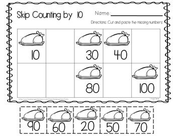 thanksgiving kindergarten worksheets free