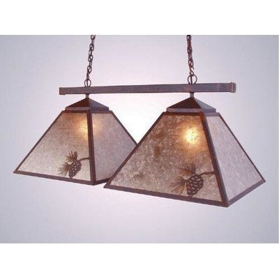 Steel Partners Pinecone Double Game Swag Pendant Finish: Mountain Brown, Shade / Lens: Slag Glass Pretended