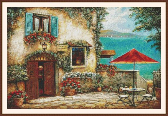 Ombrello Rosso Counted cross stitch pattern in by Maxispatterns