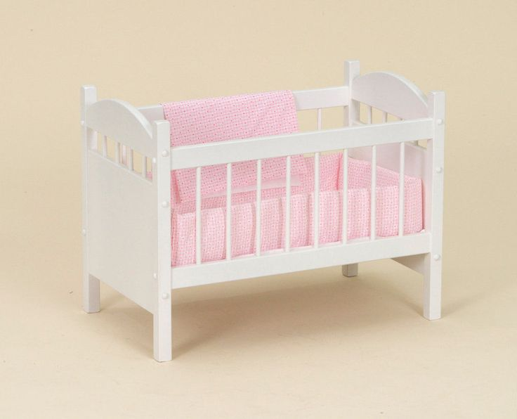 Details About Wooden Doll Crib With Bedding Bitty Baby