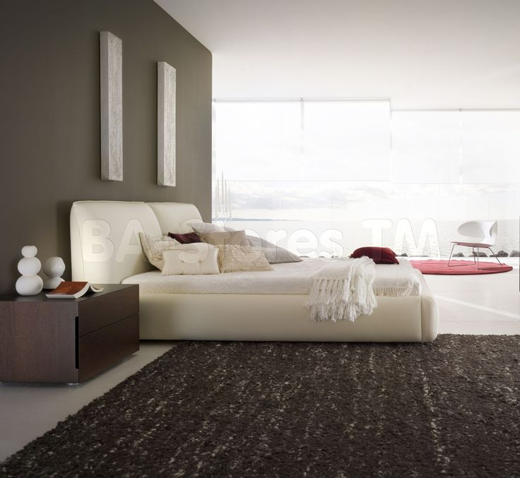 Rossetto USA Pavo Platform Bed in Beige