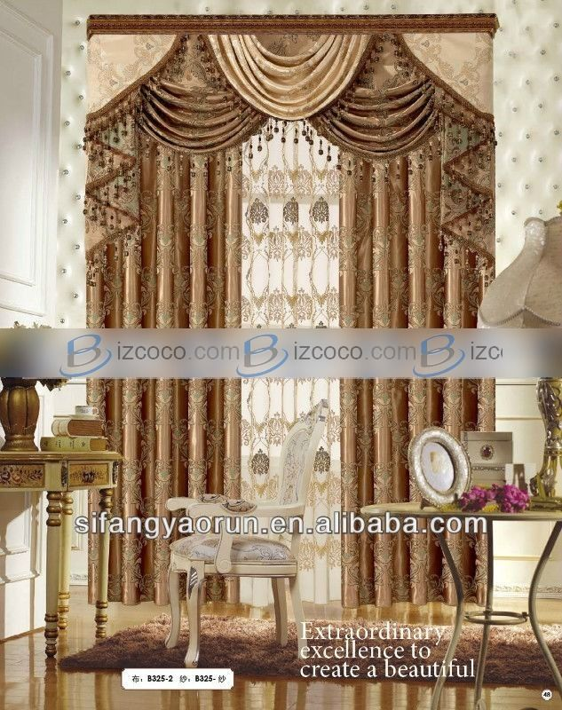 elegant drapery | luxury elegant living room curtain macrame ...