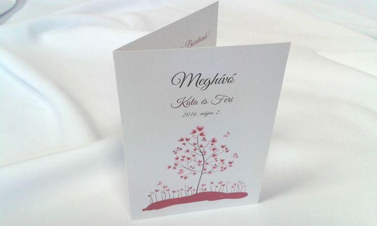 egyedi grafikus esküvői meghívó 066.1