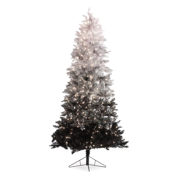 vintage black ombre spruce pre lit christmas tree your home and family are one of a kind dont settle for a cookie cutter tree the ft - What Kind Of Trees Are Christmas Trees