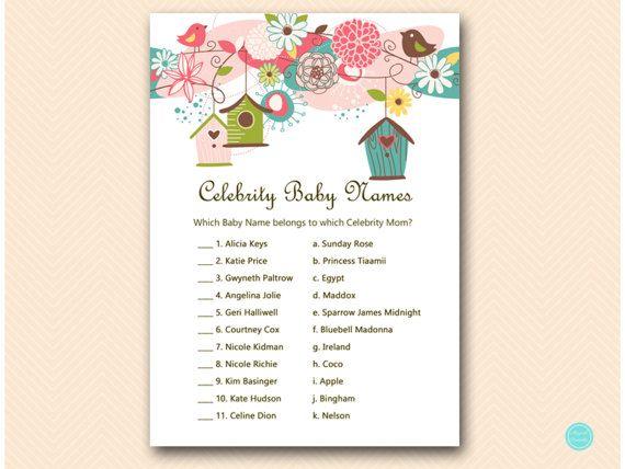 Birdhouse Baby Shower Games celebrity baby by MagicalPrintable #babyshowerideas4u #birthdayparty  #babyshowerdecorations  #bridalshower  #bridalshowerideas #babyshowergames #bridalshowergame  #bridalshowerfavors  #bridalshowercakes  #babyshowerfavors  #babyshowercakes