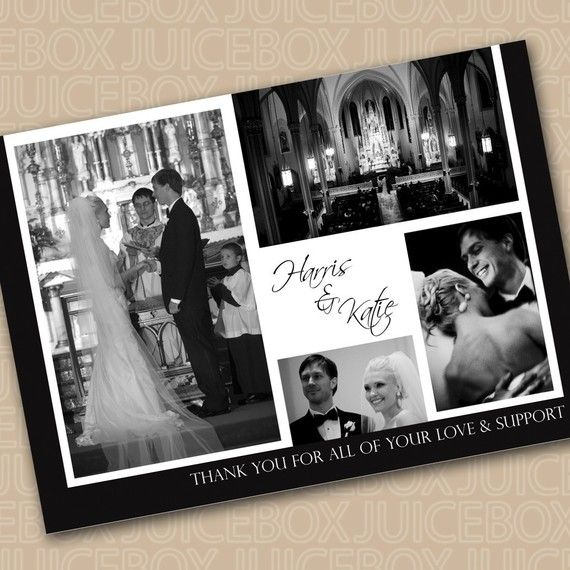Wedding Thank You Card Collage by juiceboxcreations on Etsy, $18.00