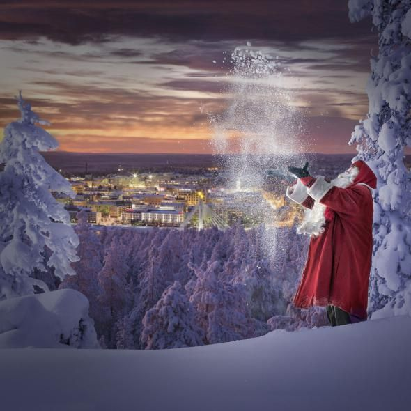 Santa Claus in frosty winter #Santa #Lapland #Finland