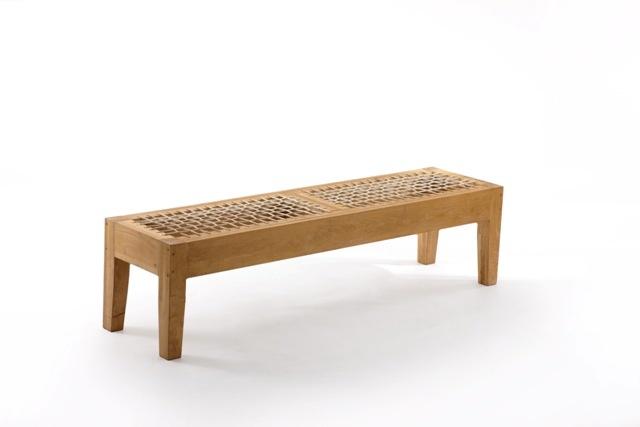 Oak Riempie Bench