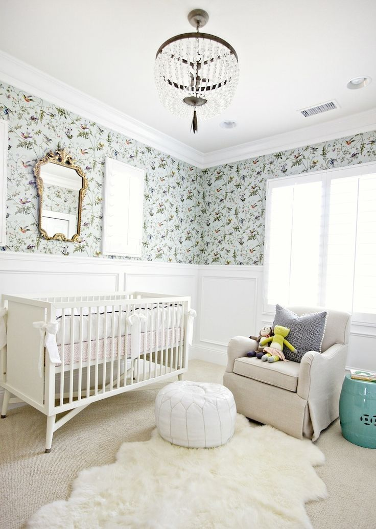 Benjamin Moore Color of The Year 2016 - Anything But Simple - laurel home   fabulous nursery by Studio McGee (link on laurel home) Cole and Son Humming Bird Wallpaper also available at Anthropologie