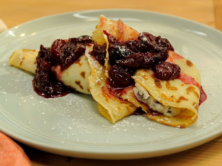 Cherry compote, Mascarpone and Crepes on Pinterest
