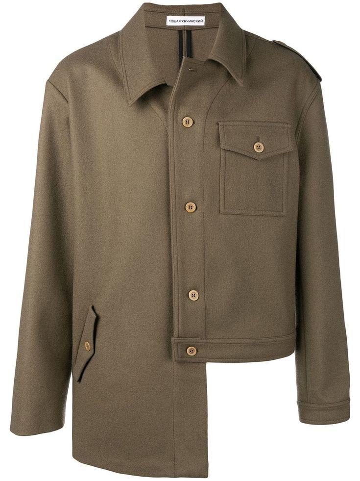 Uneven Hem Coat In Green Military Jacket Military Jacket Green Jackets