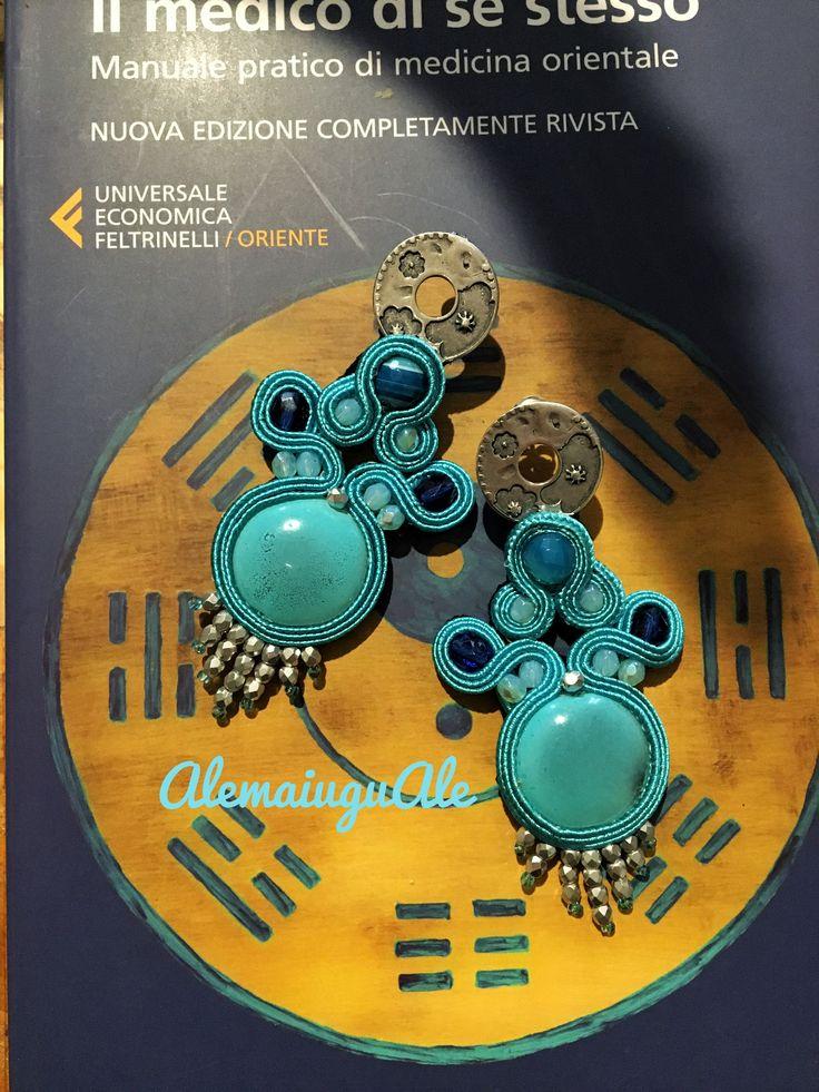 Voglia di mare- soutache turchese handmade