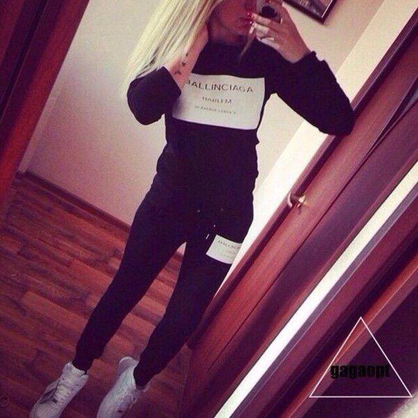 Woman Sweatshirt Clothes sets 2015 Ballinciaga Tracksuits 2 Piece Set Women Sport Suit Hoodies Jogging Free Shipping|55f7a9d1-2da5-4721-a5fe-700702df20c6|Hoodies & Sweatshirts